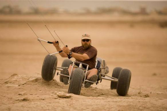 Craig Hansen testing the Outlaw in Kuwait