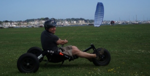 Kevin at SB Kites in Poole, UK