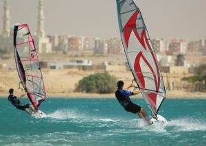 Windsurfing in El Tur, Egypt